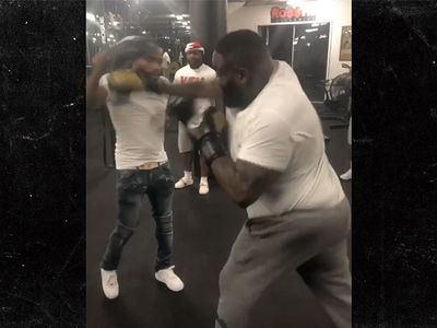 Rick Ross Hits the Boxing Gym with Adrien Broner, Check Out These Hands!