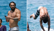 Jason Momoa Really Is Aquaman, Dives into Ocean to Save Phone