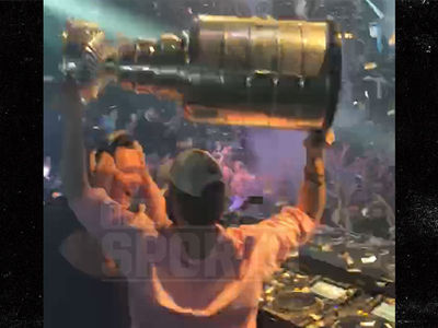 Washington Capitals Rage With Stanley Cup, Tiesto in Vegas Club