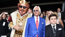 Burger King's Mascot, the King, Joins Bob Baffert's Triple Crown Party for Justify