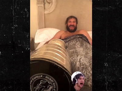 Alexander Ovechkin Takes Stanley Cup to Bed