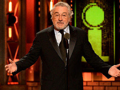 Robert De Niro Gets Bleeped Saying 'F*** Trump' at 2018 Tony Awards
