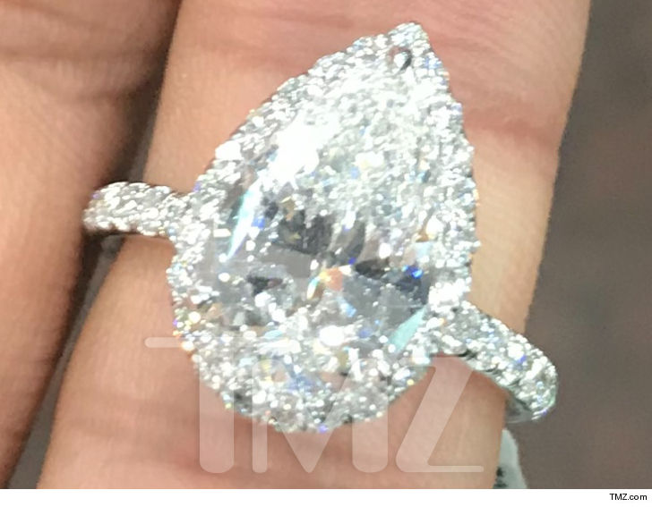 Ariana Grande flashes $123,000 diamond engagement ring from Pete Davidson