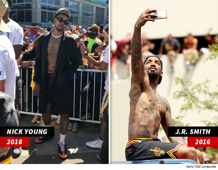0ed4625f0ed3 Nick Young Takes on J.R. Smith in NBA Parade Edition of  Who Wore it ...