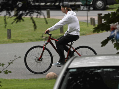 Brad Pitt Riding His Bike After Angelina Jolie Custody Battle