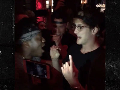 Logan Paul and KSI Have Heated Exchange at L.A. Nightclub