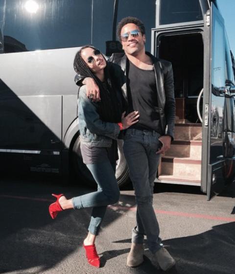 Zoe Kravitz and Lenny Kravitz