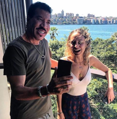 Nicole Richie and Lionel Richie