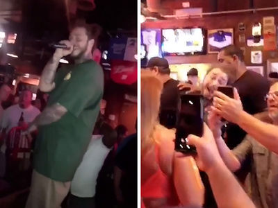 Post Malone Serenades Hometown Bar With Karaoke, Dance Battle