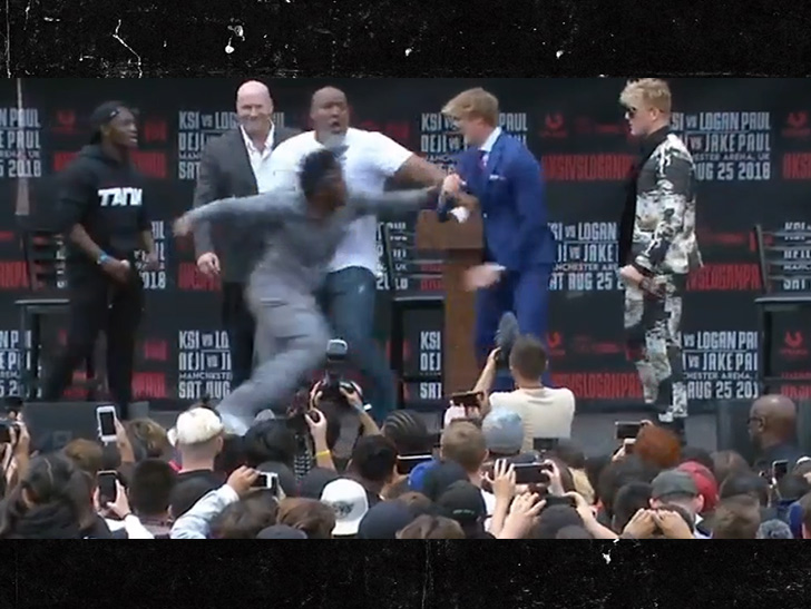 Logan Paul and KSI Go Face-to-Face at Super Fight News ...