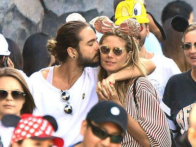 Heidi Klum and BF Tom Kaulitz Hit Disneyland for PDA ... and Rides, Too