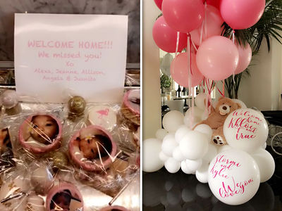 Khloe Kardashian and True Get Sweet L.A. Welcome