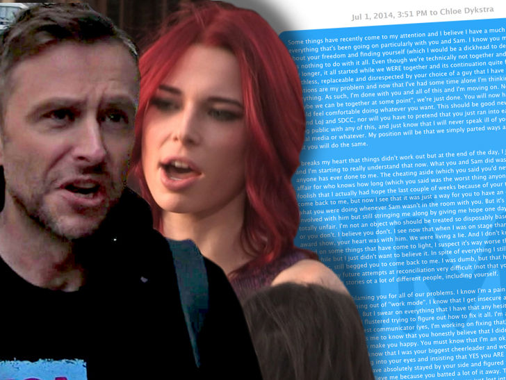 Chris Hardwick and Chloe Dykstra Texts Show She Wanted to Reconcile After Breakup - TMZ