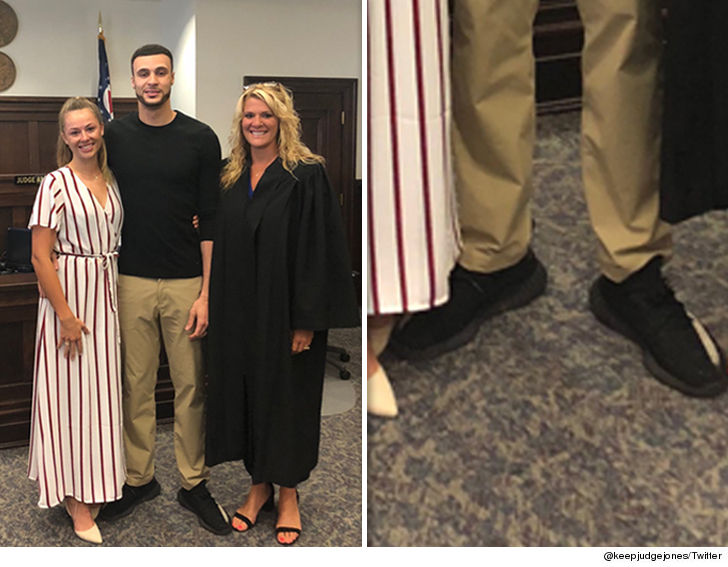 NBA s Larry Nance Jr. Gets Married In Yeezys and Lululemon Pants. Breaking  News. Talk about a low-key wedding . aeb02185eb8