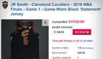 J.R. Smith's Brainfart Cavs Jersey Auction Over $11,000