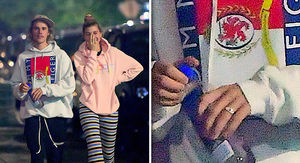 Justin Bieber's Not Married Despite Band on Ring Finger