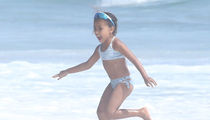 North West Hits Beach In Malibu With Heavy Security