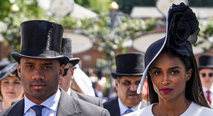 Russell Wilson and Ciara Rock Huge Hats for Royal Ascot