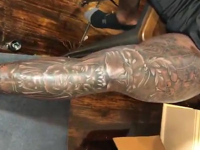 Saints Star Alvin Kamara Covers Both Legs In Big-Ass Tattoos