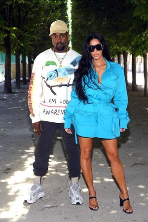 Kim Kardashian and Kanye West -- Back in Paris