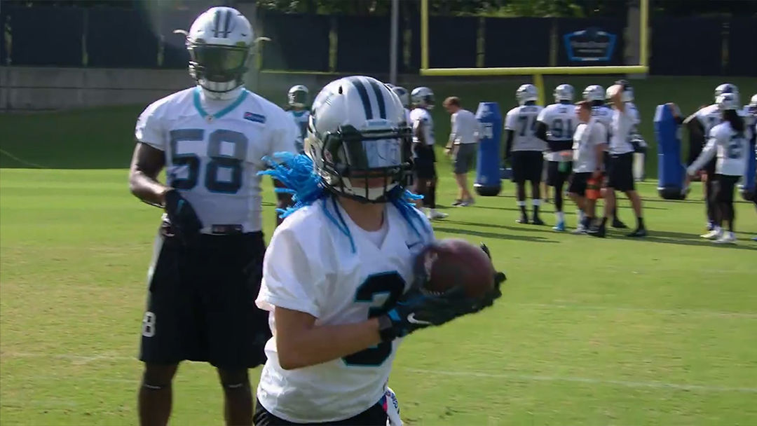 dc653c4f0 Carolina Panthers Let 13-Year-Old Girl Practice with Team, She Hits Hard!!