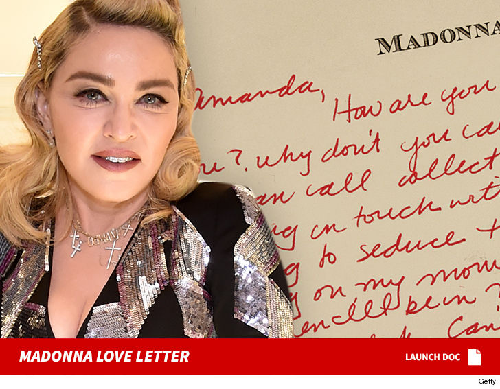 madonna was crushing hard on the model she famously kissed in her 1990 justify my love video and professed it in a love letter which could be yours