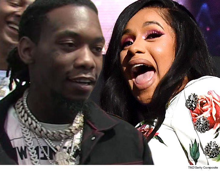 Cardi B And Offset Got Married On A Whim In Their Bedroom Tmz Com