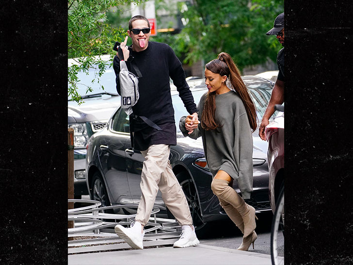 Pete Davidson and Ariana Grande Get Handsy out in NYC