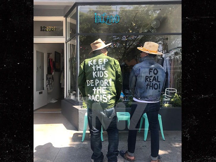 George Lopez is selling jackets that flip a switch on the green jacket Melania wore to her visit at the border.