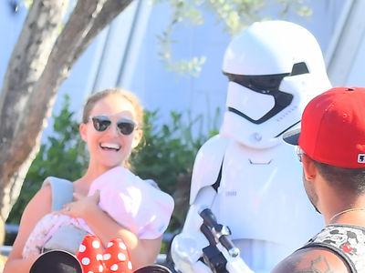 Natalie Portman Having a Blast with Her Kids at Disneyland