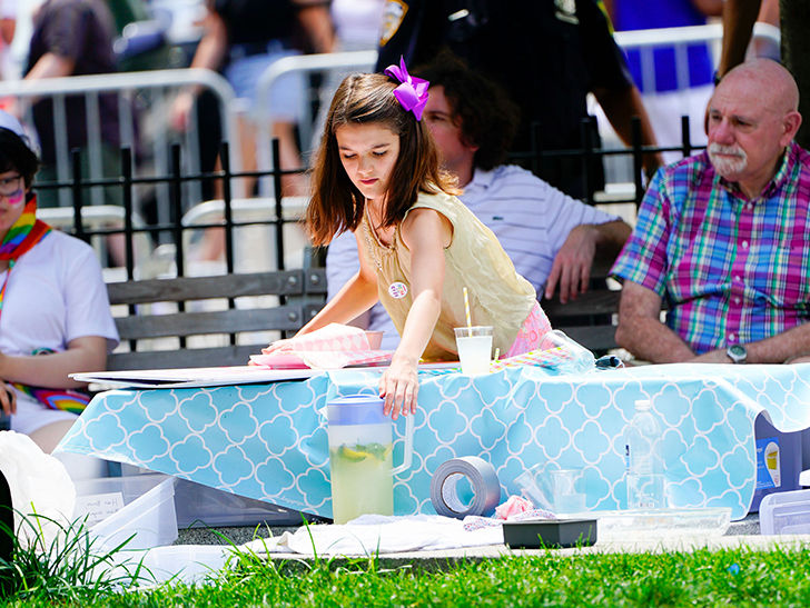Suri Cruise Opened a Lemonade Stand for NYC Pride Parade