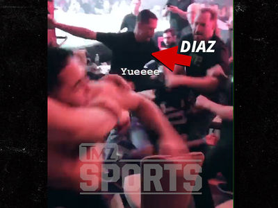 Nate Diaz Fights In Stands at MMA Event, Again