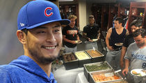 Yu Darvish to Minor Leaguers, I'm Rich, Here's Steak!!