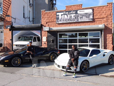 Pusha T and His Manager Buy $300k Ferraris in Black and White