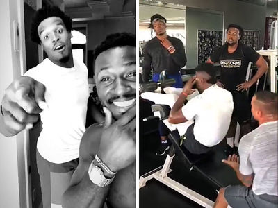 Antonio Brown & Cam Newton Work Out Together In Miami, 'So Much Juice And Swag!!'