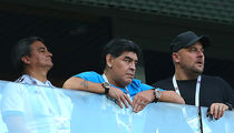Diego Maradona Treated By Paramedics At World Cup Game