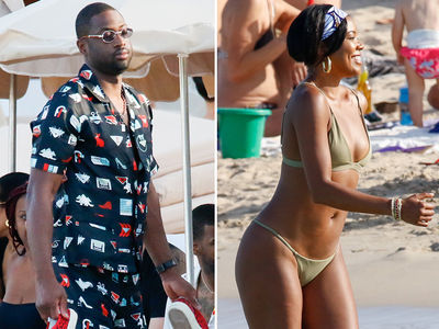 Gabrielle Union Rocks String Bikini In Ibiza with Dwyane Wade