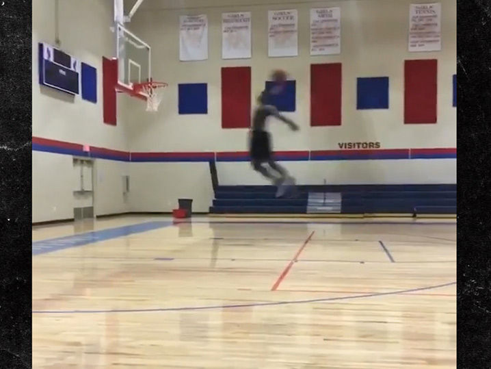 Zion Williamson Makes It Like Mike, Dunks From Free Throw Line!
