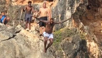 LeBron James Risks It All To Jump Off A Cliff In Anguilla