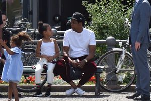 Jay-Z and Blue Ivy -- Daddy Daughter Day at the Park