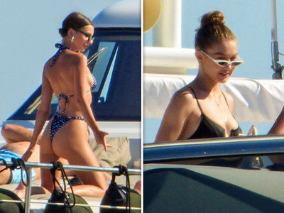 Gigi Hadid and Emily Ratajkowski Go Hot Bod Yachting in Greece