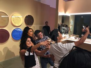 Kim Kardashian Surprises fans at Pop Up Shop in Los Angeles