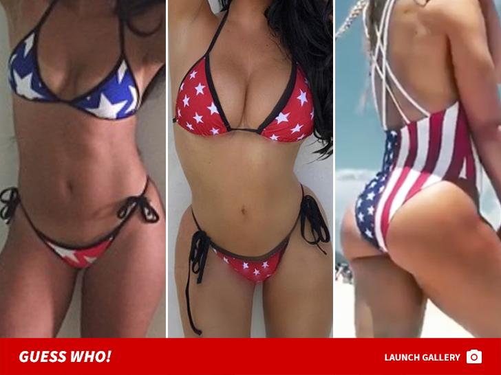 9c39e5e87b2 American Flag Swimsuits -- Guess Who!