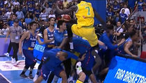 Thon Maker In Crazy Hoops Brawl, Flying Knees and Haymakers!