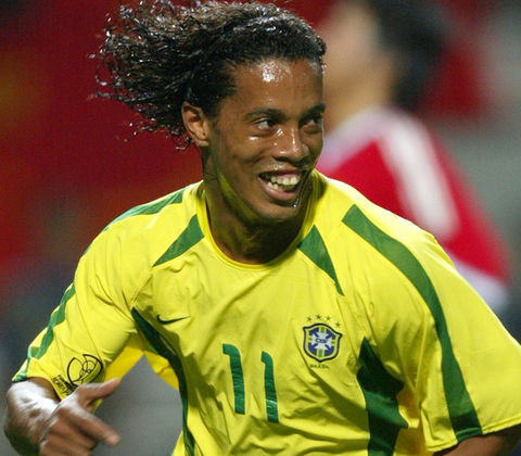 Brazilian forward Ronaldinho Gaucho gained fame for fronting Euro teams Paris Saint-Germain, Barcelona and Milan but is most notably a big part of the Brazilian dream team who won the 2002 World Cup against Germany.