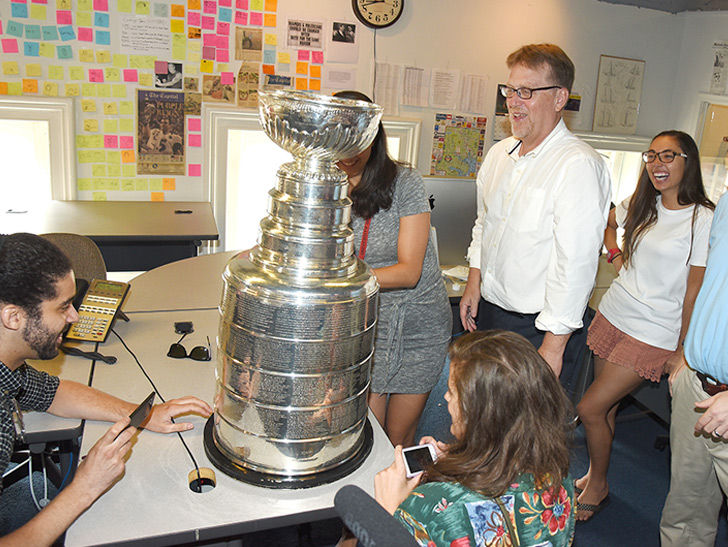 Washington Capitals Staffer Brings Stanley Cup To Capital Gazette Office