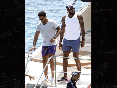 LeBron James Enjoys Yacht Time with Family in Italy