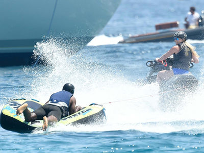 Lindsey Vonn and P.K. Subban Wipeout While Tubing in Sardinia