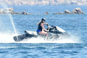 Lindsey Vonn and P.K. Subban Show Off Jet Ski Skills In Sardinia