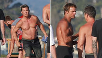 Josh Brolin Plays Cornhole with Laird Hamilton on the 4th